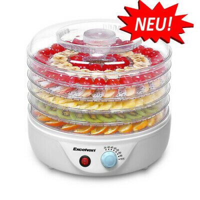 5 Drying Dish Dryer Electric Food Dehydrator -Timing/ Temperature Control UK