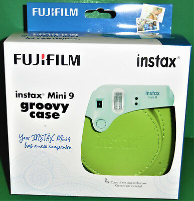 BRAND NEW! FUJIFILM instax Mini 9 Groovy Case With Strap - Lime Green