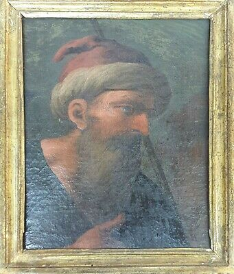 Portrait Of Man. Oil On Canvas. Unsigned 18Th-19Th Century.