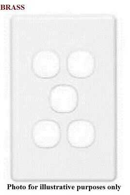 Clipsal C2000 SERIES SWITCH GRID PLATE & COVER 5-Gang, Less Mechanism BRASS