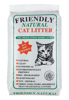 Friendly Natural Straw Based Cat Litter 20kg Cat Litter Damaged 20.3 KG