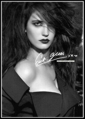Eva Green, Autographed, Cotton Canvas Image. Limited Edition (EG-43)