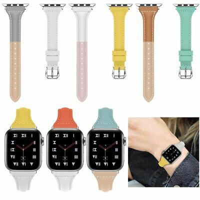 For Apple Watch Series 4 3 2 1 Cinturino in vera pelle Strap Band 38/40/42/44mm