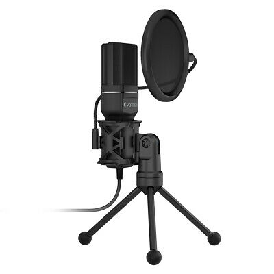 USB Plug&Play Pro Home Studio Condenser Microphone for Podcast Recording TH1371