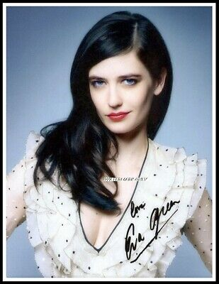 Eva Green, Autographed, Cotton Canvas Image. Limited Edition (EG-44)