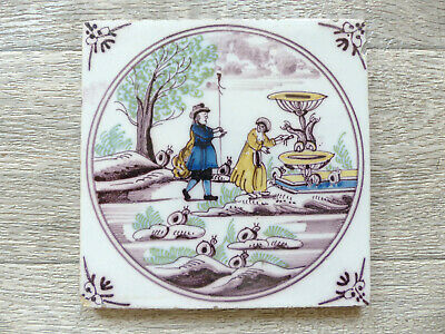 SUPERB ANTIQUE DUTCH DELFT TILE LATE 18th or EARLY 19th CENT. 1790's 1820's (11)