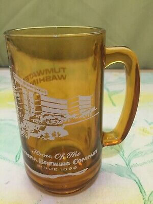 Vintage Olympia Brewing Company Tumwater Washington Glass Beer Mug Since 1896