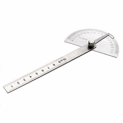 1x Stainless 180 Degree Protractor Angle Finder Ruler Rotary Measuring Tool US