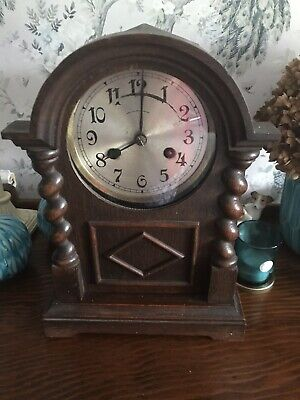 Antique German Chiming Mantle Clock. Working.
