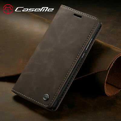 Luxury Retro Leather Flip Magnetic Stand Case Cover For iPhone 6 7 8 Plus XS Max