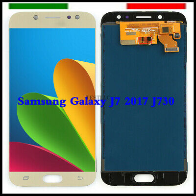 Display LCD Touch Screen Samsung Galaxy J7 2017 J730 SM-J730F Schermo Vetro Oro