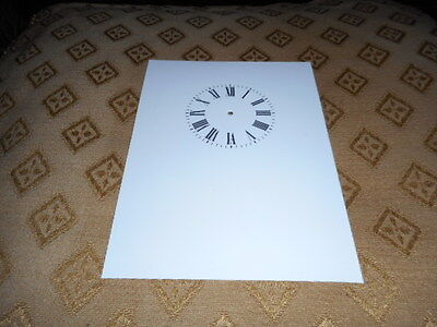 """Carriage Clock Paper Dial-2 1/2"""" M/T-High Gloss White-Face /Clock Parts/Spares"""