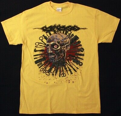 Carcass Head One Foot 2016 Tour Grindcore Death Metal New Yellow T-Shirt