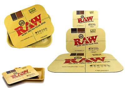 Raw Classic Rolling Tray Magnetic Cover Lid Mini Small Large Xxl