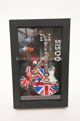 RGM8919 Noel Gallagher Oasis Miniature Guitar in Shadowbox Frame