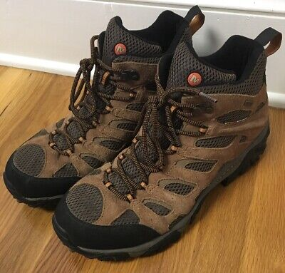 1d93aea1ca9 NEW MENS MERRELL Moab Adventure Mid Waterproof Earth Brown Leather ...