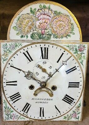 A Longcase grandfather clock 8 day, Dial and Movement only