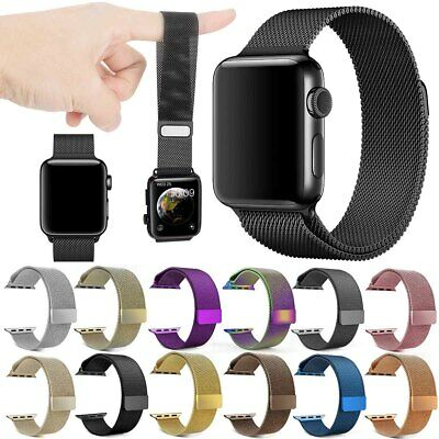 For Apple Watch 38/40/42/44mm Magnetic Milanese Loop Stainless Steel Band Strap