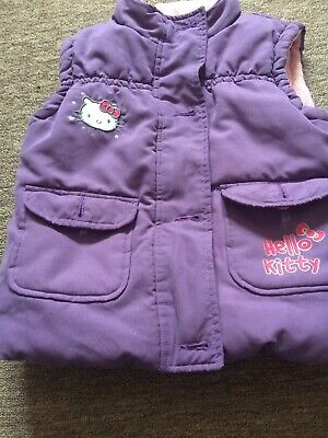 M And S Hello Kitty Purple Gilet Body Warmer Age 4-5