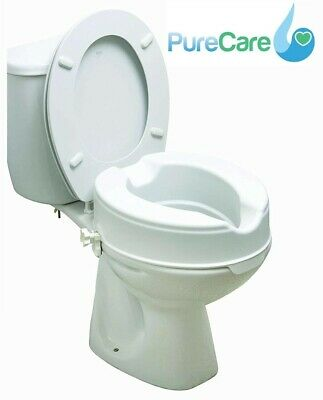 "Drive Raised Toilet Seat Without Lid 6"" Raise Bathroom Toileting Aid - 24h DEL"