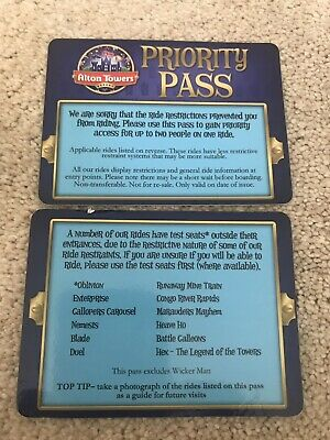 Alton Towers Priority Entrance - Fast Track x2