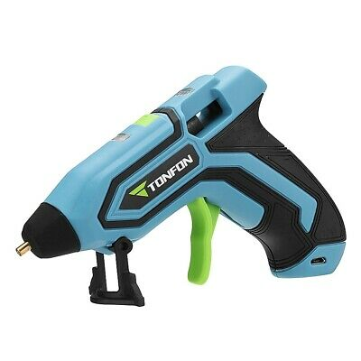 Cordless Rechargeable Hot Melt Glue Gun Tool Leakage Protection with 5pcs Sticks