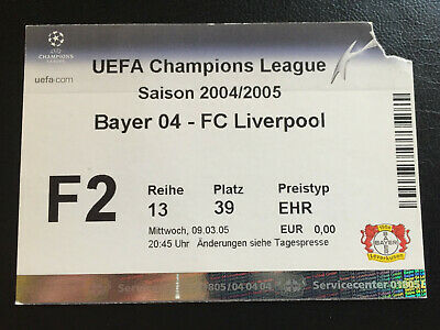 9h MARCH 2005 CHAMPIONS LEAGUE BAYER 04 LEVERKUSEN V FC LIVERPOOL ENGLAND