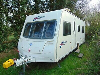Bailey Pageant Burgundy 2008 Fixed Bed Four Birth Caravan Super Condition