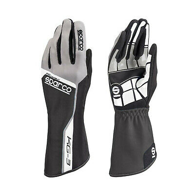 Sparco Track KG-3 Kart Gloves Black - Genuine - 11