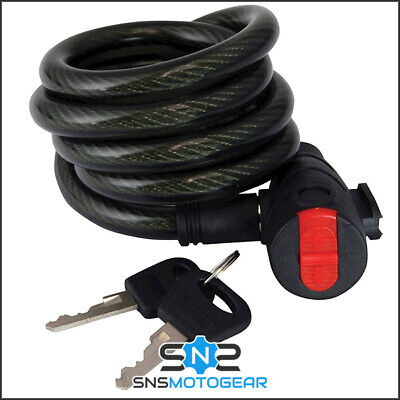 Mammoth Motorcycle Motorbike Security Coil Cable Lock - 12mm x 1.8m