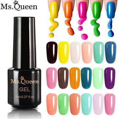 MS.QUEEN 104 Colors UV LED Gel Nail Polish No Wipe Top Base Coat Varnish Lacquer