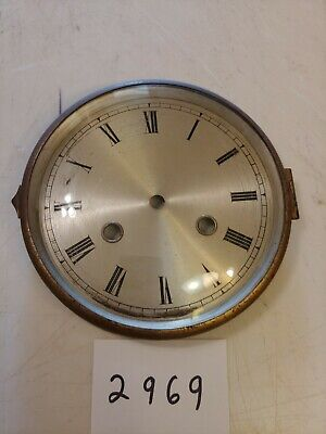 German Or English Mantle Clock Dial And Bezel With Glass