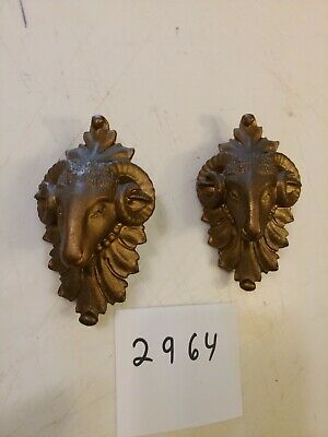 Ansonia Iron Case Mantle Clock Ornate Rams Heads Side Decorations