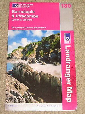 OS Ordnance Survey Landranger Map Sheet 180 Barnstaple & Ilfracombe