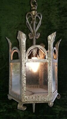 Iron Antique Pendant Chandelier Fixture Gothic Tudor Revival Spanish Old Classic