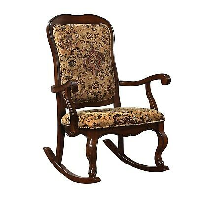 Wood Frame Rocking Chair Antique Style Traditional Rocker Glider Seat Vintage US