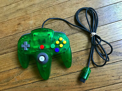 Official OEM Nintendo 64 Jungle Green N64 Controller Authentic Clened Tested
