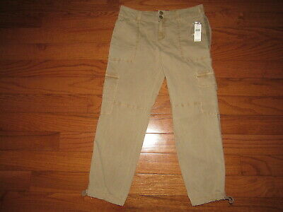 NEW Sanctuary Anthropologie Brown Crop Cargo Pants size 28 $108 NWT