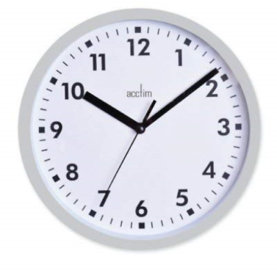 Acctim Wickford Round Wall Clock - White