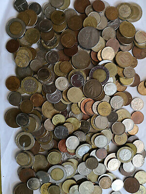 WORLDWIDE MIXED CIRULATED VINTAGE COINS 1kg  ideal for collectors Free P&P to UK