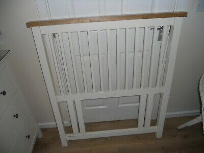 """Solid Wood """"Shaker Style"""" Headboard For Single Size Bed Ivory/Off White"""