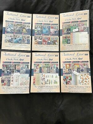Tattered Lace The Paper Collections Vol 1-6 My Craft Studio Click Print Go Cdrom