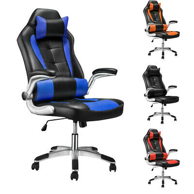 Office Chair High Back Racing Sport Home Furniture Swivel Chair with Head Pillow