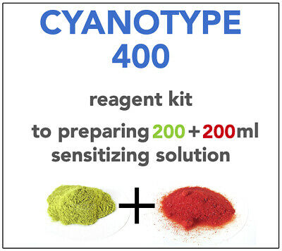 CYANOTYPE KIT (for 200+200ml) ALL YOU NEED TO SENSITIZE 90-100 A4 SHEETS