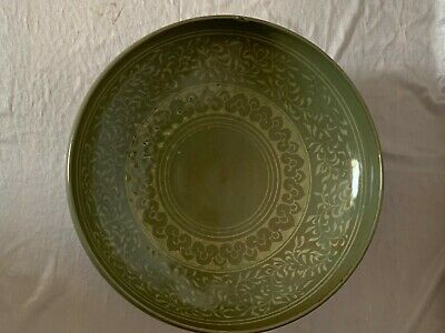 Antique Beautiful Chinese - Korean big Celadon fruit bowl in 19th Century
