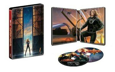 Captain Marvel [SteelBook] (4K Ultra HD Blu-Ray + Blu-Ray + DVD - Digital Copy)