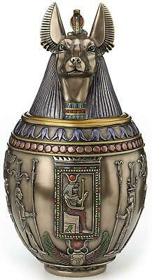 Anubis Egyptian Canopic Jar Memoral Urn Statue  *FREE SHIPPING TO CANADA