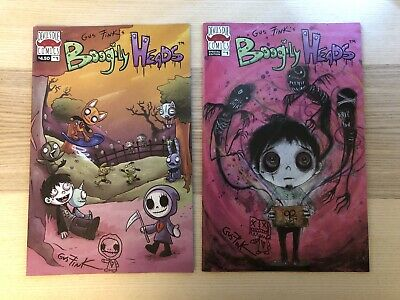 BOOGILY HEADS Issues 1 Special Edition Cover Comic  Signed By Creator Gus Fink