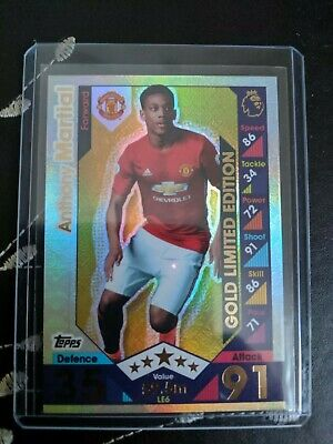 Limited Edition Anthony Martial Gold 50 cards Match Attax 2016//17 Mini Tin