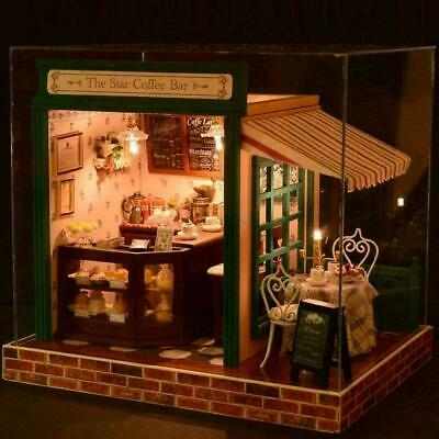 DIY Wooden  Dolls Star Bar Coffee Lovers With 3D Furniture Jigsaw Puzzle 20 G8R7